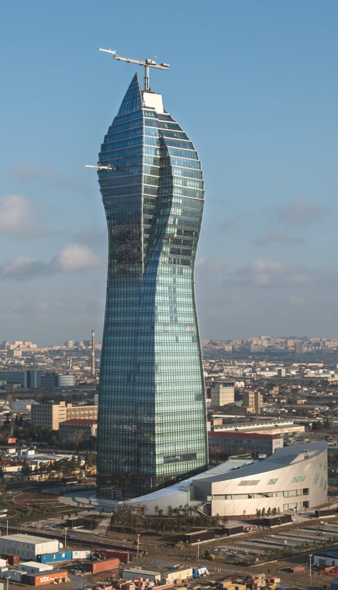 Photograph of. Socar Tower